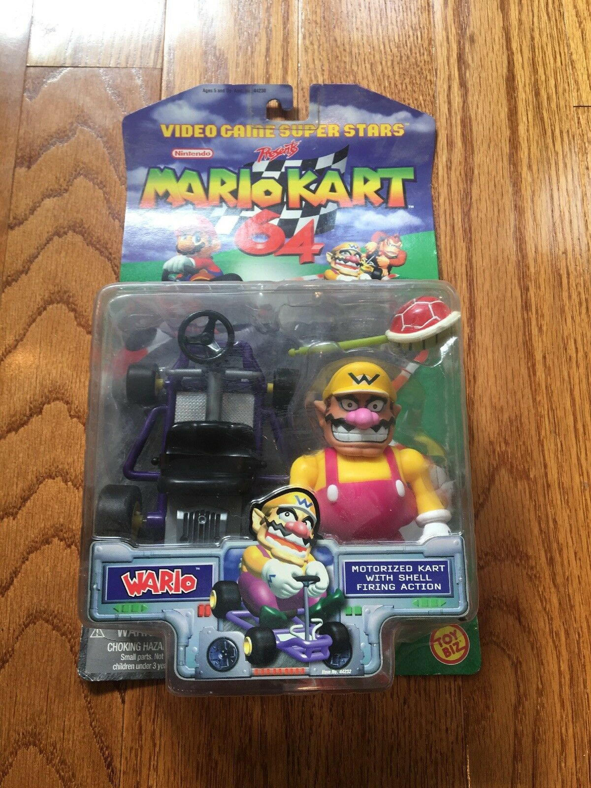 Toy Biz N64 Mario Kart 64 Wario Action Figure rare