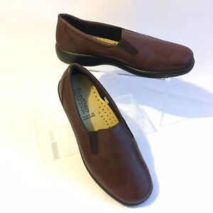 HOTTER-039-GLOVE-039-Brown-LEATHER-SMART-SLIP-ON-SHOE-SIZE-4-EU-37-US-6-COMFY