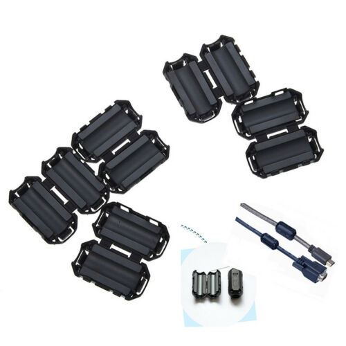 5x Clip On EMI RFI Noise Ferrite Core Filter for 7mm Cable 3 gN