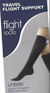 Black-COMPRESSION-SOCKS-NEW-one-size-Travel-amp-Flight-Support-1-pair-UNISEX-dvt