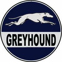 Nostalgic Reproduction Greyhound Bus Sign Round