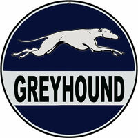 Nostalgic Reproduction Greyhound Bus Sign Round