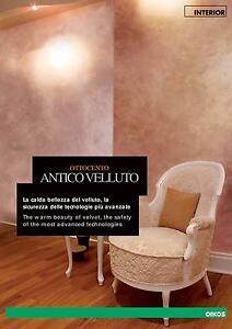 Ottocento oikos antico velluto pittura base e finitura lt1 for Pittura brillantinata oikos