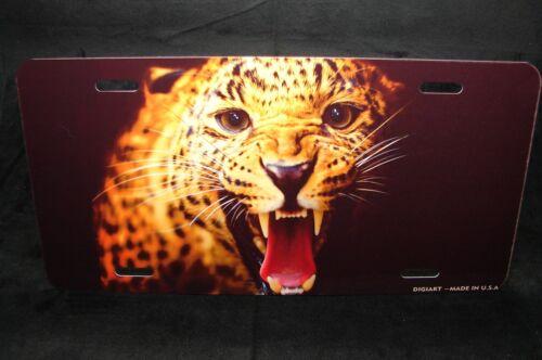 CHEETAH  METAL NOVELTY LICENSE PLATE FOR CARS  TIGER LION JAGUAR