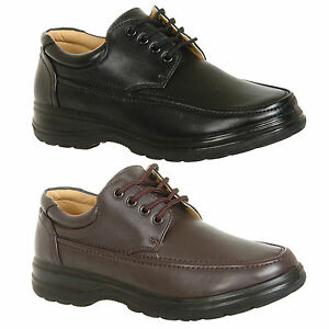 Mens-Black-Brown-Casual-Shoes-Size-6-7-8-9-10-11-12