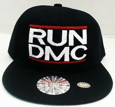 RUN DMC SNAPBACK SNAP BACK CAP HAT ***RUN DMC*** RUN DMC BLACK