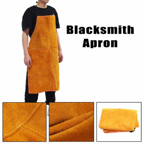 Cowhide Leather Electric Welding Blacksmith Apron  Welding Safety Clothing