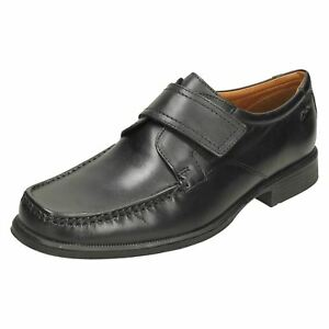 hombre Roll Mocasines Black Hook Loop Clarks para Huckley Smart 4wqvFw