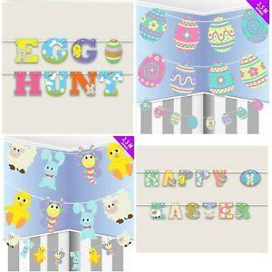 ELEGANT-Bunting-Banner-Buona-Pasqua-Coniglietto-Da-Appendere-Ghirlanda-Festa-Decorazione-Arredamento