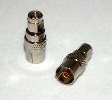 IEC PAL DVB-T TV female jack to SMA plug male RF Adapter straight F/M (US Stock)