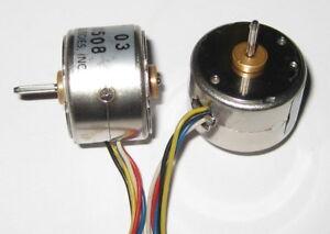 2 X Miniature Stepper Bipolar Motor - 5V - Driver Schematic - 2 Phase - 20 Steps