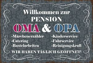 Willkommen-To-Guest-House-Oma-amp-Grandpa-Tin-Sign-Shield-7-7-8x11-13-16in-FA1795