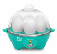 Elite Cuisine Automatic Egg Cooker Poacher Kitchen Eggs Cooking Boiled Green New