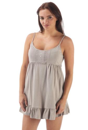 Ladies Short Cotton Parisienne Cami in Mink DU Sizes 8-20