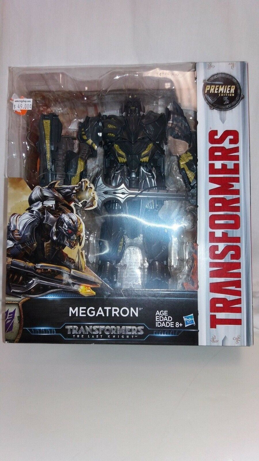 Transformers The Last Knight Megatron Premier Edition Figure NEW NIB Hasbro.