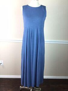 J-Jill-Womens-Dress-Empire-Stretch-Sleeveless-Midi-Side-Slit-Size-S