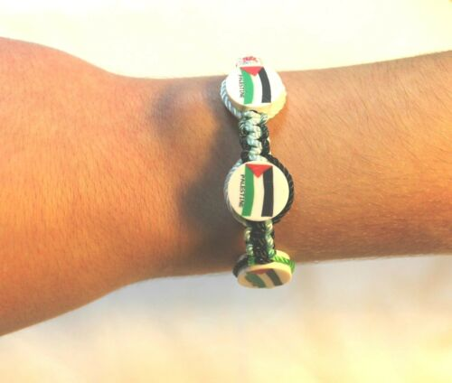 New Palestinian Bracelet Three Palestine Color Flags adjustable Wristband