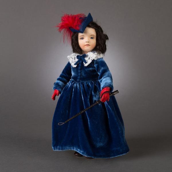 R. John Wright Bonnie Azul Butler ido con viento Muñeco Coleccionable EE. UU. hecho a mano