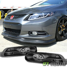 2012-2013 Honda Civic 2Dr Coupe Bumper Driving Fog Lights Lamps w/Harness+Switch