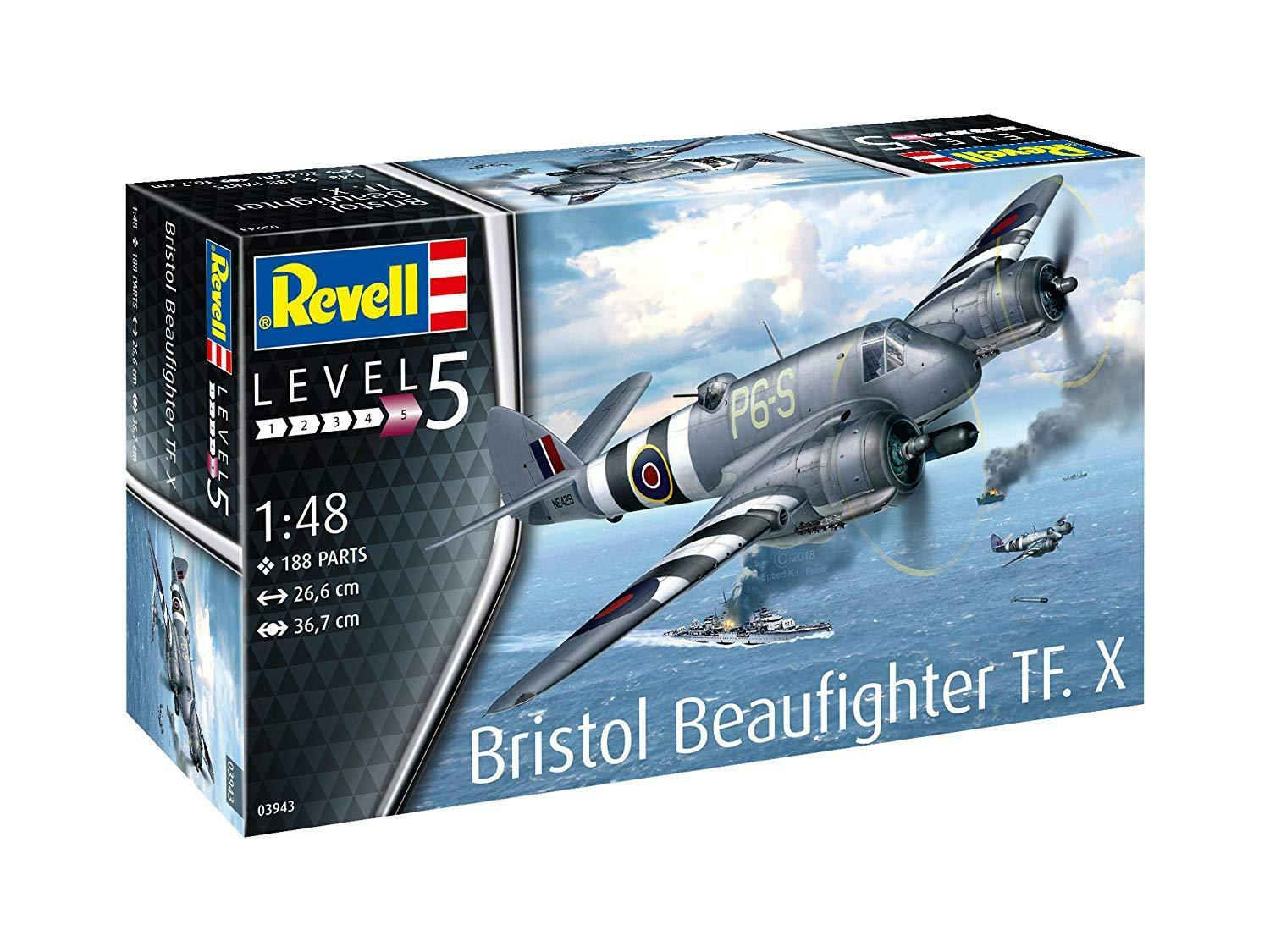 Bristol Beaufighter TF.X 1 48 Level 5 Revell Model Kit