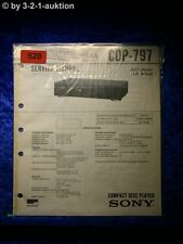 Sony Service Manual CDP 797 CD Player (#0528)