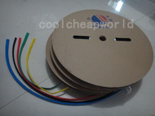5mm Dia Diameter Heat Shrinkable Tube Shrink Tubing 100M 328FT Yellow Color
