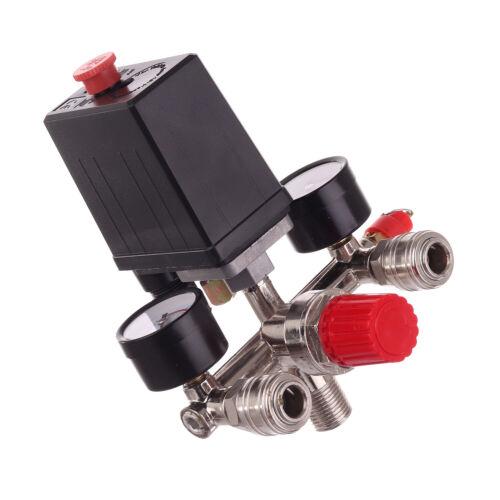 230V Pressure Switch Air Valve Manifold Compressor Control Regulator Gauges
