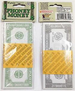Joke Fake Paper Money Fancy Dress Notes Rich Man Pimp Costume Prop Sheik