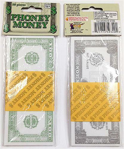 Scherzo Finto Banconote Note Costume uomo ricco Magnaccia Costume di Scena Sheik