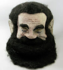 Antique Odd Fellows Masonic Paper Mache Folk Art Painted Head Mask