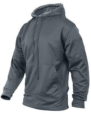 tactical ccw hoodie hooded sweatshirt grey concealed carry handgun rothco 2075