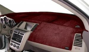 Mitsubishi-Lancer-2008-2013-w-Sensor-w-Nav-Velour-Dash-Mat-Red