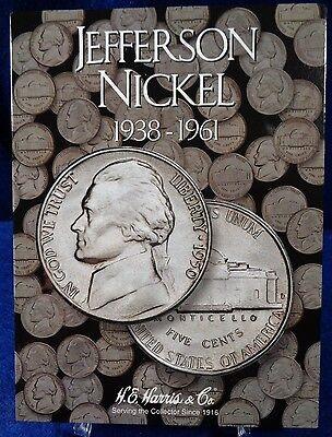 Harris Jefferson Nickel Folder 1962-1995 Coin Storage Album Display No 2 H.E