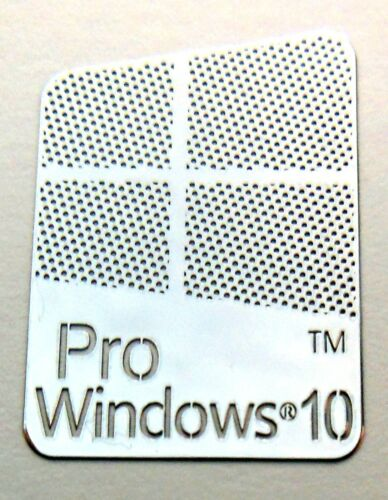 Microsoft Windows 10 Pro Metal Sticker 16 x 23mm 883