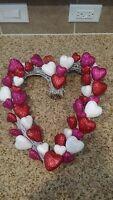 Valentine Glitter Heart Wreath