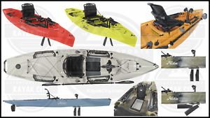 Details about 2020 Hobie Mirage Outback w/Kick Up Turbo Fins - Fishing Kayak