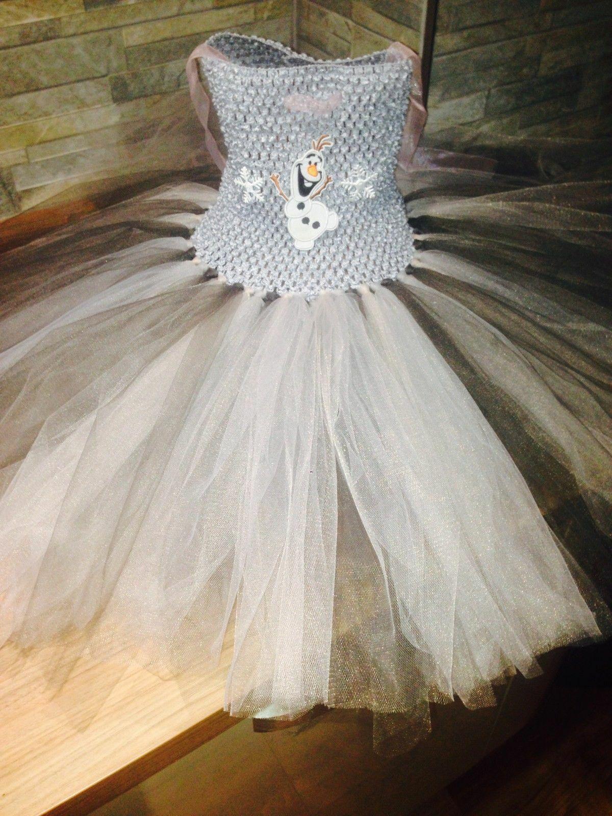 Disney Frozen Olaf Princess Handmade Children's Tutu Dress