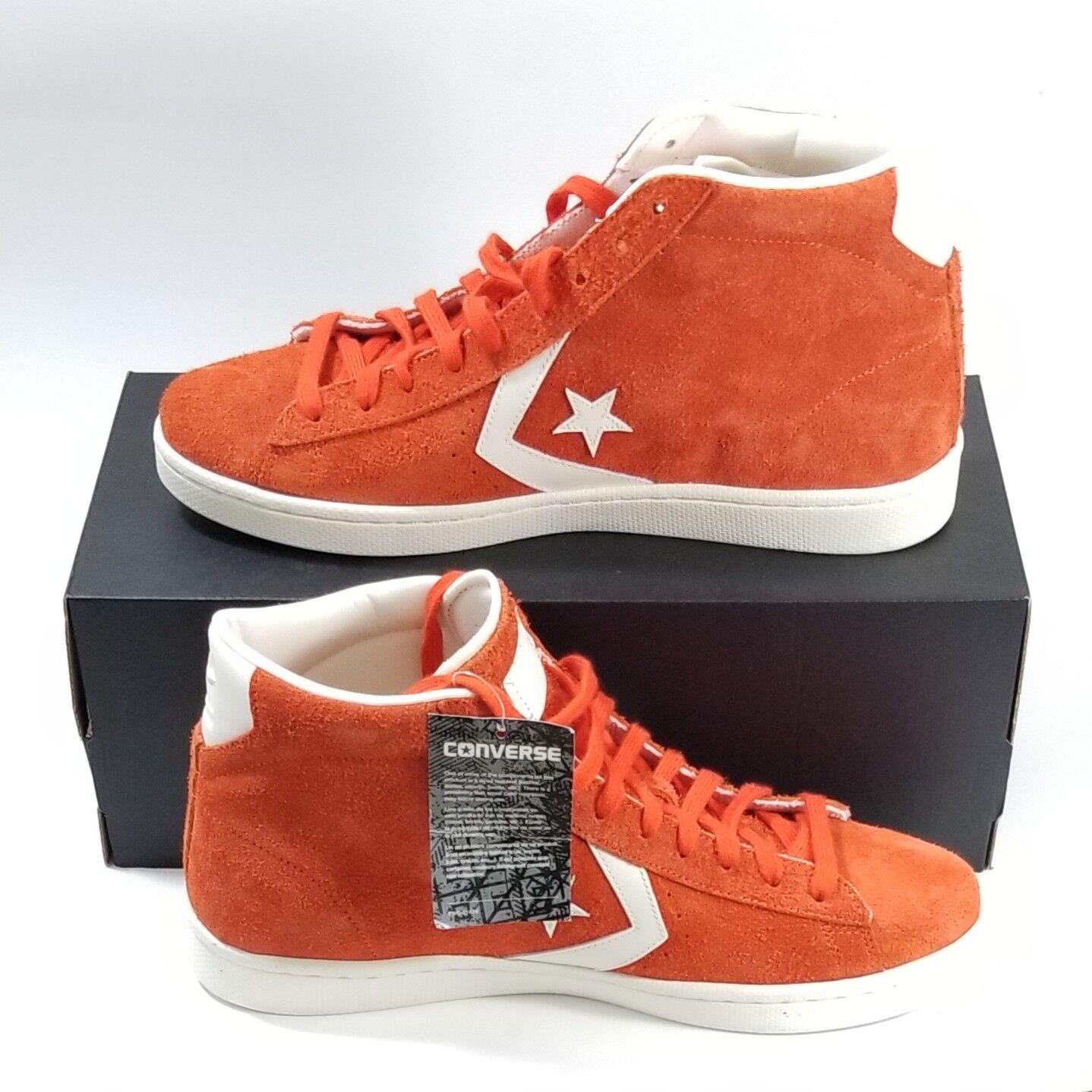 Converse PL 76 Mid orange Fire Egret Suede Men Size 9.5