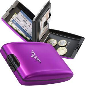 TRU-VIRTU-Aluminium-Geldboerse-Kar-ten-etui-Geldbeutel-Portemonnaie-Oyster-Purple