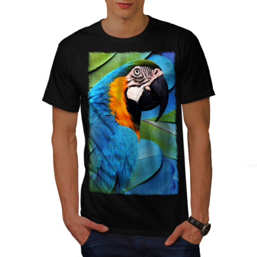 Paradise Graphic Design Printed Tee Wellcoda Parrot Bird Cute Mens T-shirt