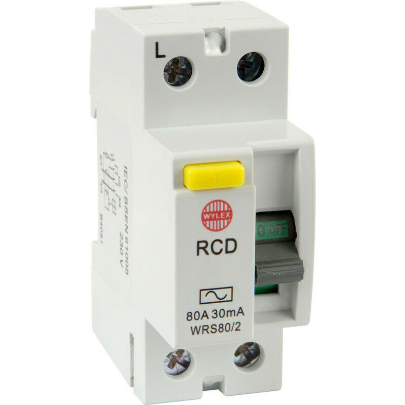 NEW Wylex Incomer Devices 80A 30mA WRS80 2 UK SELLER, FREEPOST