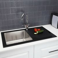 Sauber 1.0 Bowl Kitchen Sink With Glass Drainer
