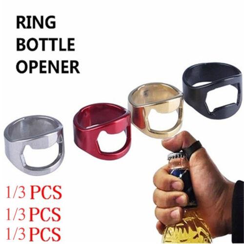 Abridor de botellas de cerveza Abridores de anillos de dedo Herramienta cocina.