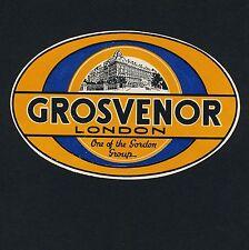 Grosvenor Hotel LONDON England Great Britain * Old Luggage Label Kofferaufkleber