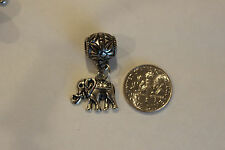 Elephant charm +bead Tibetan silver Pendant Charm for jewelry making craft 24pcs