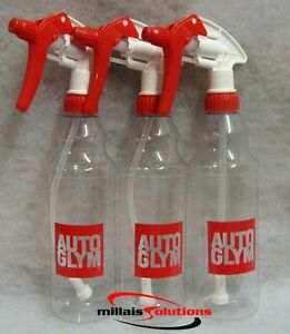 Autoglym-Trigger-Spray-Bottles-500ml-Valeting-x3