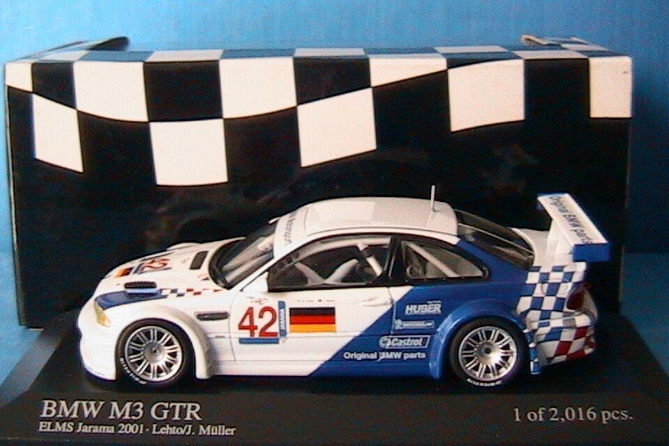 gli ultimi modelli BMW M3 GTR  42 ELMS JARAMA JARAMA JARAMA 2001 LEHTO MULLER MINICHAMPS 400012192 1 43 E46  acquisti online