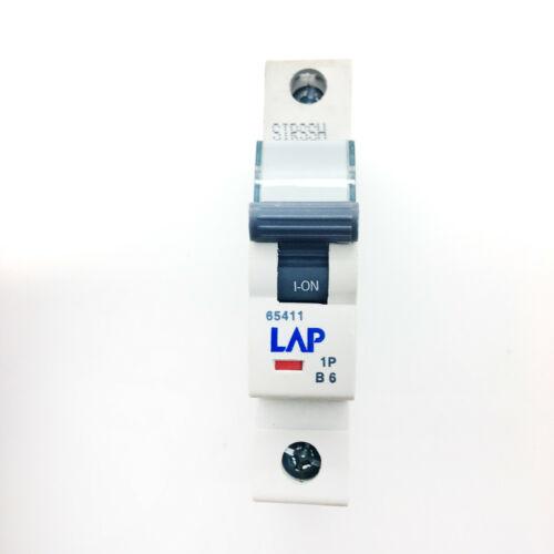 LAP B6 6A 6Amp 65411 SIRSSH MCB Miniature Circuit Breaker Fuse Type B