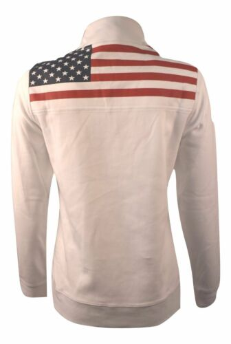 Vineyard Vines Women/'s Flag Jersey 1//4 Zip Sweater Whale Logo White $125.00