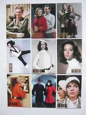 THE WOMAN OF THE AVENGERS Complete Gold Chase Card Set - all 9 Cards